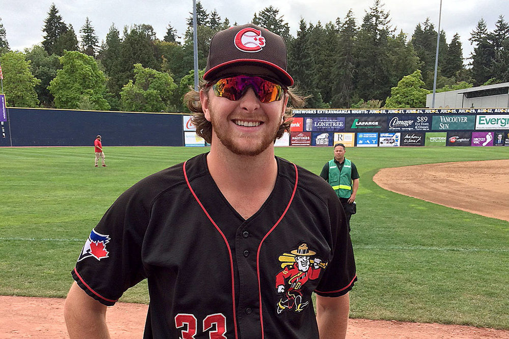 RHP Brayden Bouchey (White Rock, BC) helped Single A Vancouver Canadians to a championship. He was signed by veteran scout Gerald Turner.
