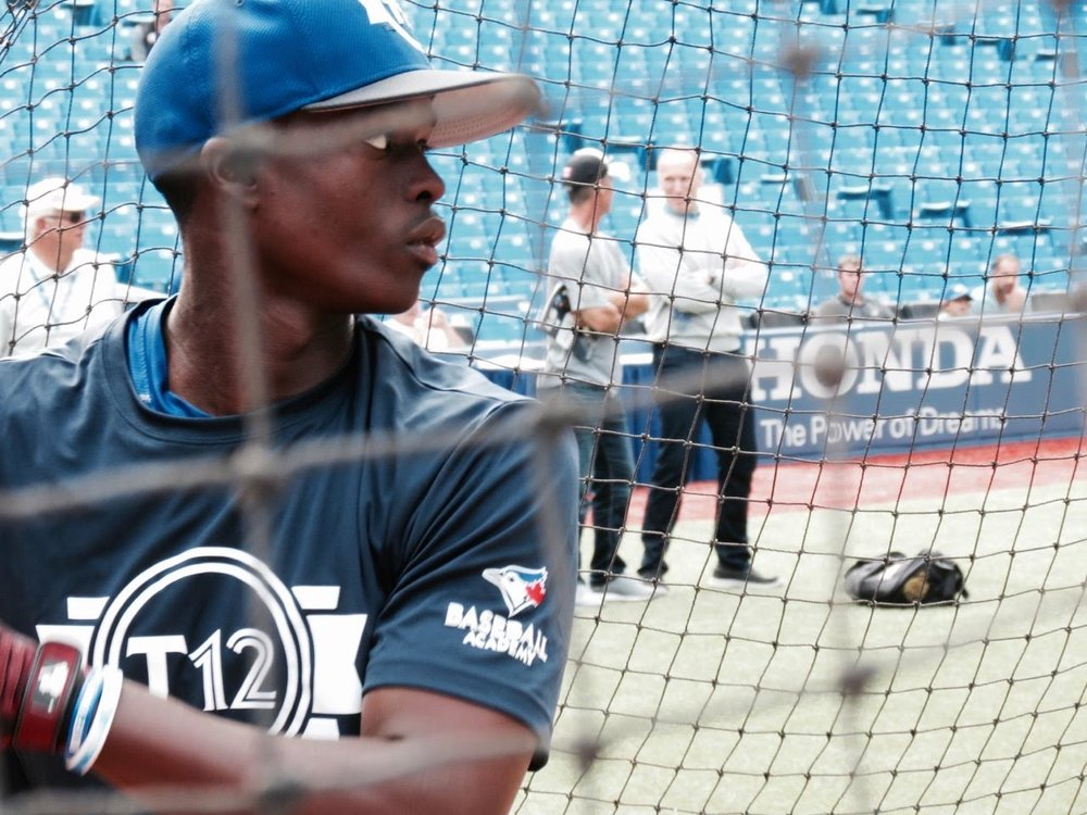 Ontario Blue Jays' Jaden Brown (Mississauga, Ont Futures Navy.