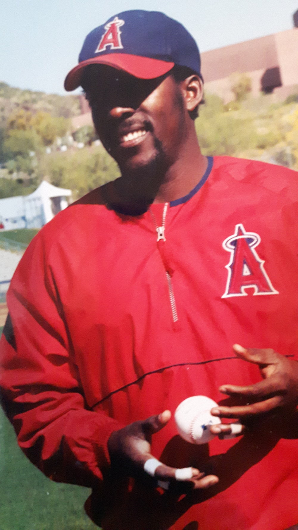 Montreal Expos legend Vladimir Guerrero has said he would like to go into the National Baseball Hall of Fame pictured in an Angels cap. Photo Credit: Danny Gallagher