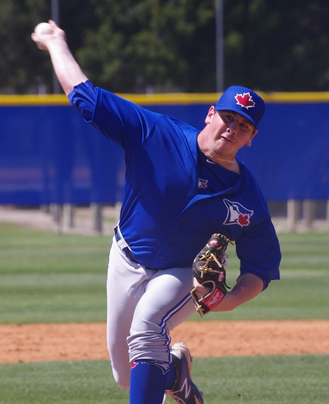 Prairie Baseball Academy graduate and Tournament 12 alum Andrew Case (Saint John, N.B.) is one of eight Toronto Blue Jays prospects playing in the Arizona Fall League. Photo Credit: Jay Blue