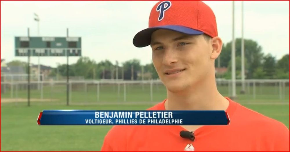 Phillies' Ben Pelletier (Varennes, Que.)