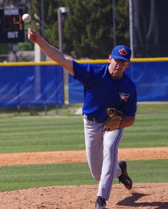 Former Ontario Blue Jays RHP Jordan Romano (Markham, Ont.). Photo: Blue Jays from Away.-