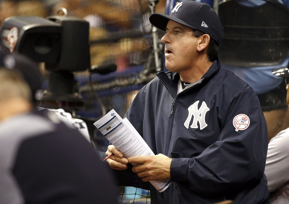 Corunna, Ont., native Rob Thomson is one of the candidates to replace Joe Girardi as New York Yankees manager. Photo Credit: Kim Klement/USA Today Sports