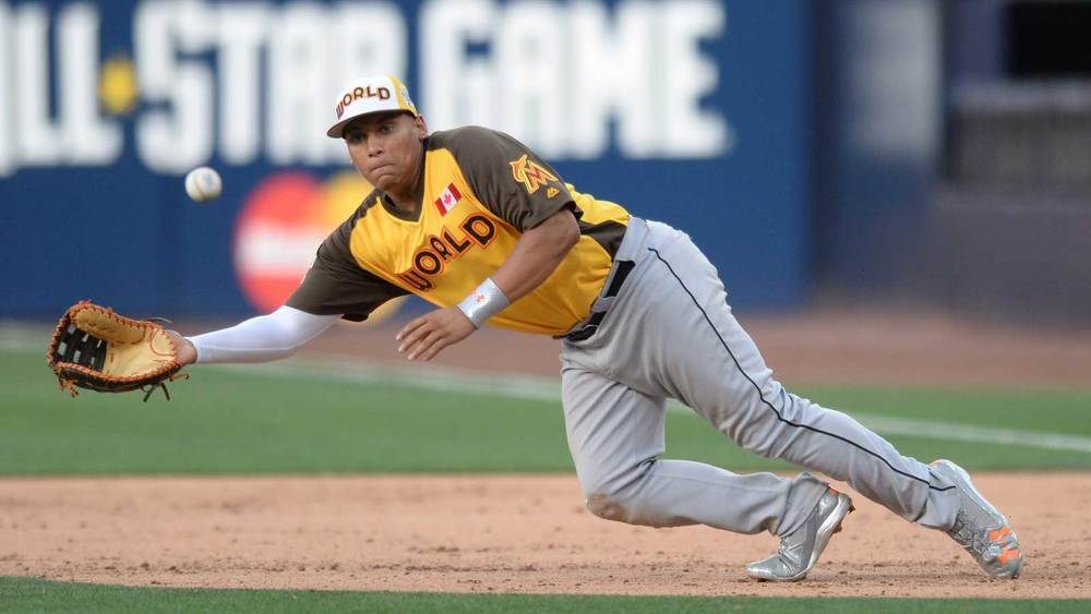 San Diego Padres prospect Josh Naylor (Mississauga, Ont.) has been selected to play in the AFL Fall Stars Game.. Photo Credit: AP Photo