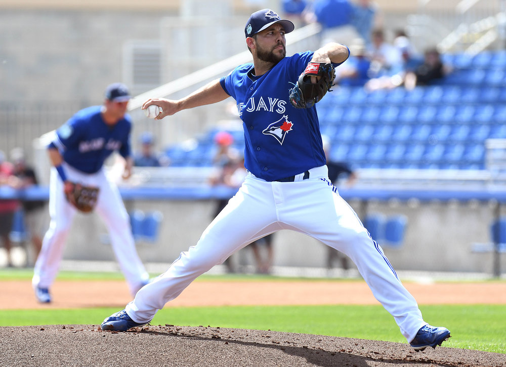 After a solid season out of the Toronto Blue Jays' bullpen, Dominic Leone is eligible for salary arbitration as a Super 2 player. Photo Credit: Jonathan Dyer/USA Today Sports