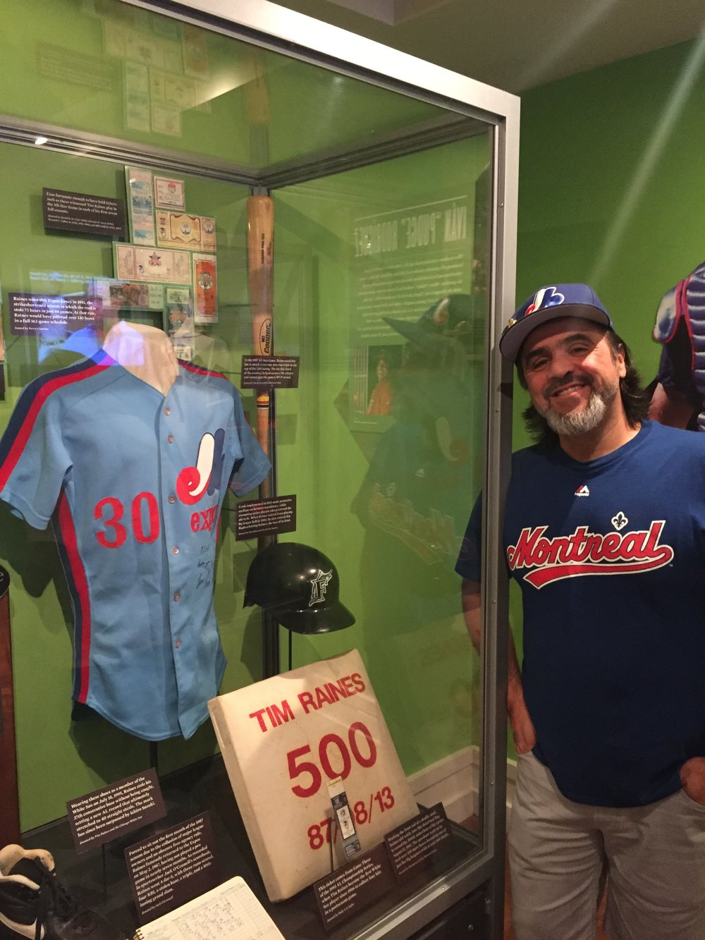 Montreal Expos super collector Perry Giannias has loaned the National Baseball Hall of Fame in Cooperstown one of 2017 inductee Tim Raines's early game-worn jerseys (pictured here) to display.