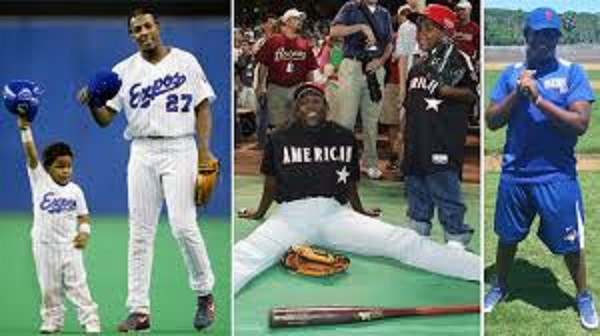 Vladimir Guerrero (Montreal, Que.): first with his father on father-and-son day at Olympic Stadium in Montreal, at the all-star game with his father, then of the Los Angeles Angeles and finally on his own.