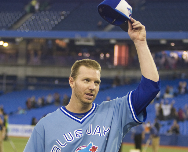 This is the photo that Roy Halladay chose for his Canadian Baseball Hall of Fame plaque this summer. Photo Credit: Canadian Baseball Hall of Fame