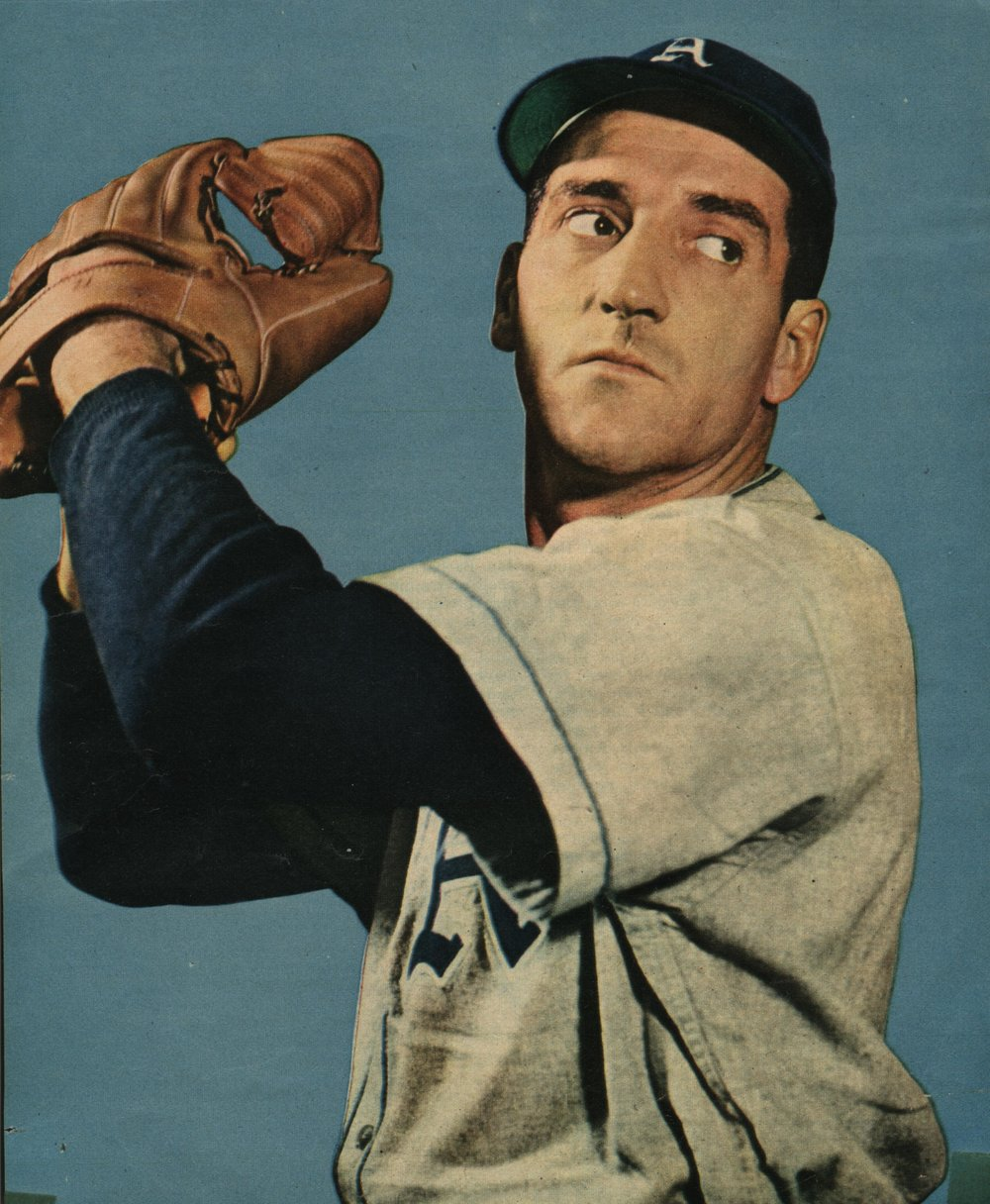 Penetanguishene, Ont., native Phil Marchildon was the ace of the Philadelphia A's pitching staff in the 1940s, but he was also a Second World War hero. Photo Credit: Canadian Baseball Hall of Fame