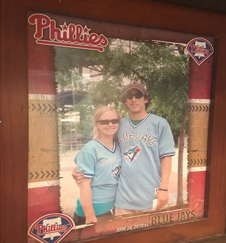 Erin Durant and Brad Pender went to see Halladay pitch in Philadelphia too.