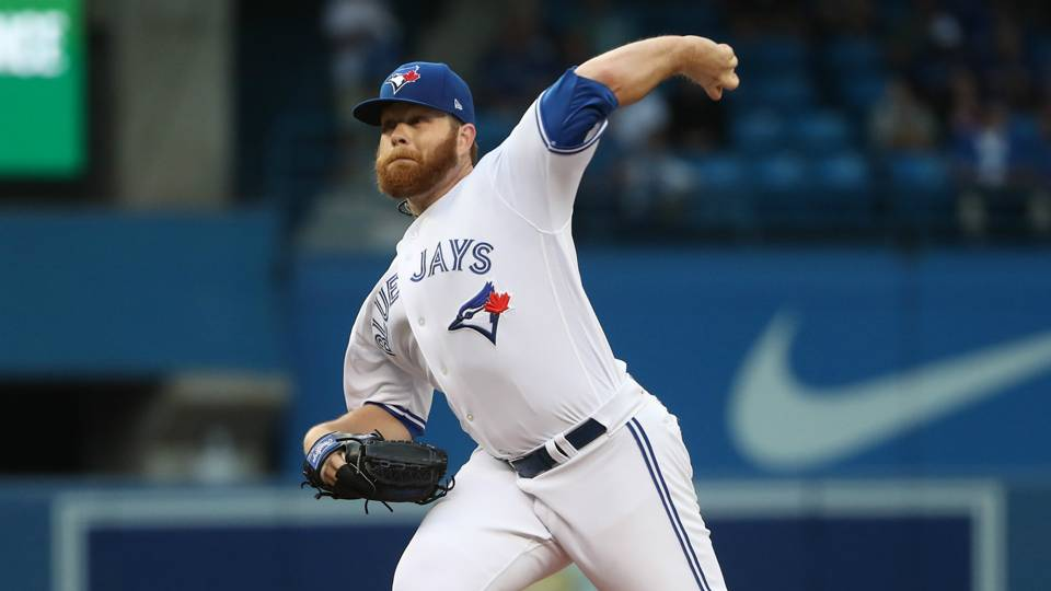 Left-hander Brett Anderson posted a 5.13 ERA in seven starts down the stretch for the Toronto Blue Jays. Photo Credit: Tom Szczerbowski, Getty Images
