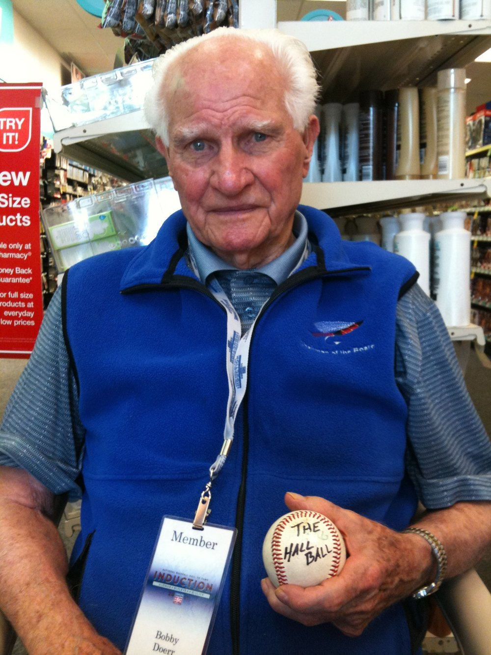 Former Blue Jays hitting coaach Bobby Doerr passed away this week. The Hall of Famer was regarded as Ted Williams' best friend.Photo: Ralph Carhart (thehallball.com).
