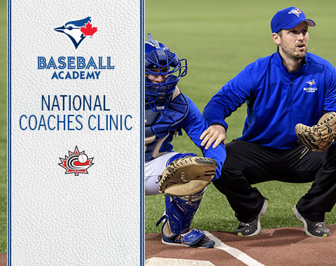 Former major leaguer Chris Robinson (Dorchester, Ont.), right, will be back to work with youngsters at the  2018 National Coaches Clinic Jan. 26-28, 2018 at Rogers Centre.