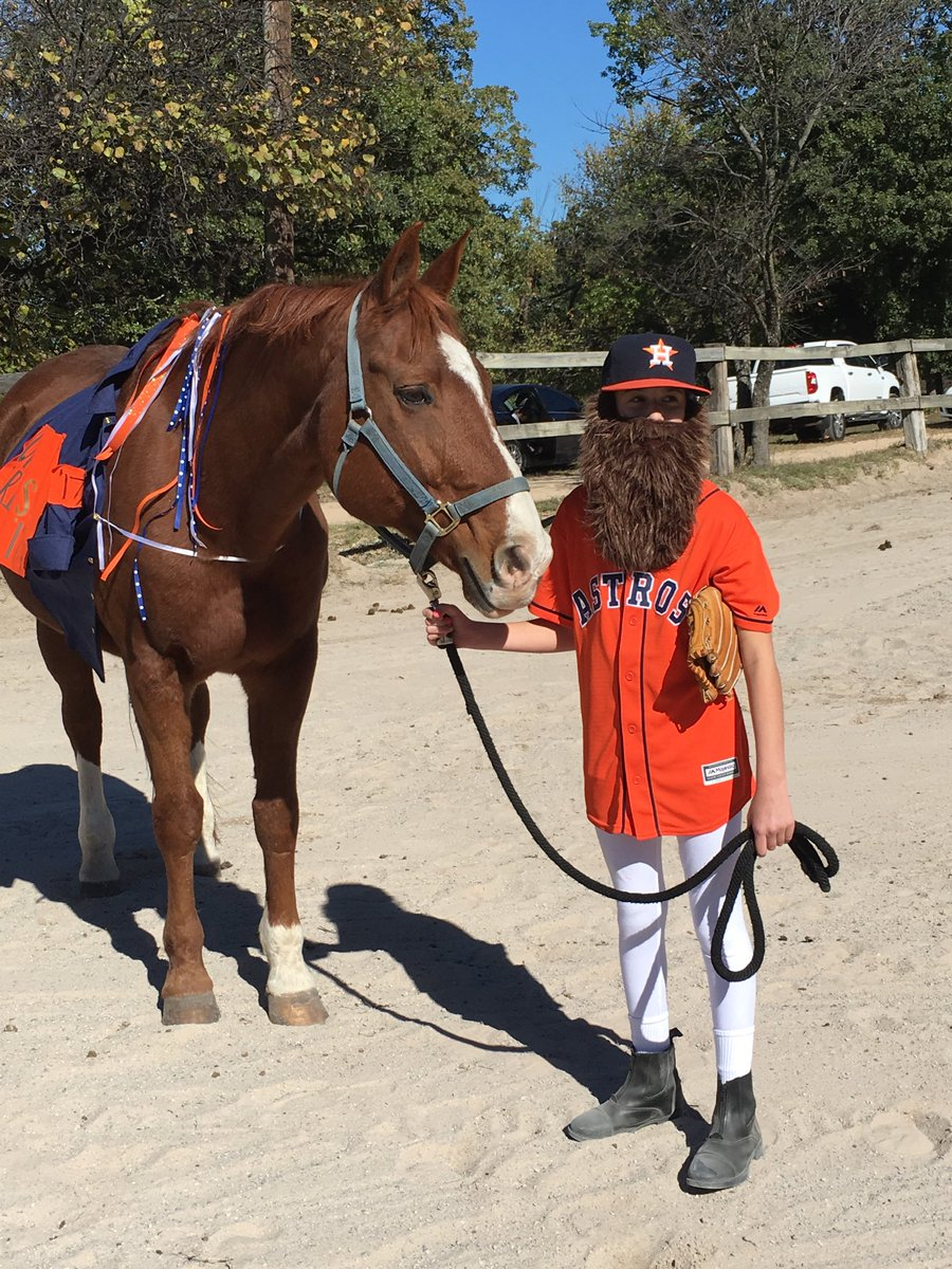 Grace Stevenson, 11, a Houston Astros fan, dressed as Dallas Keuchel when she went trick of treating. Her father, Leaside's Jim Stevenson drafted and signed Keuchel.