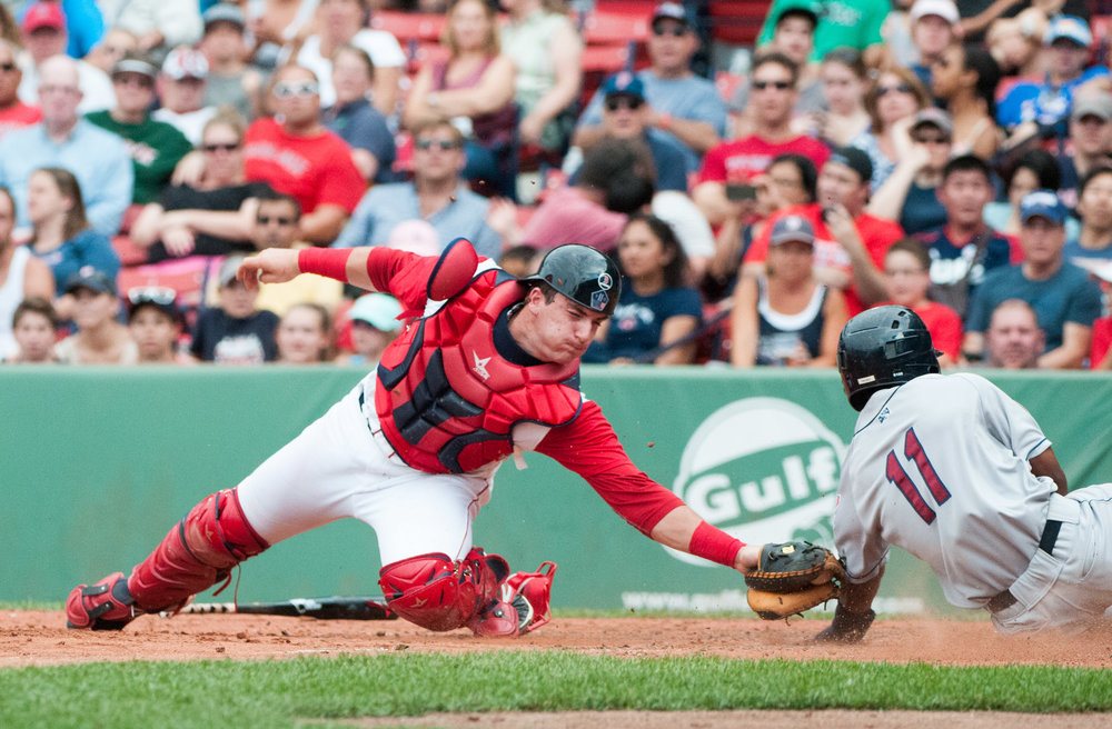 Former Okotoks Dawgs catcher Jordan Procyshen (Calgary, Alta.) has played parts of four seasons in the Boston Red Sox organization. Photo Credit: John Corneau/Lowell Spinners
