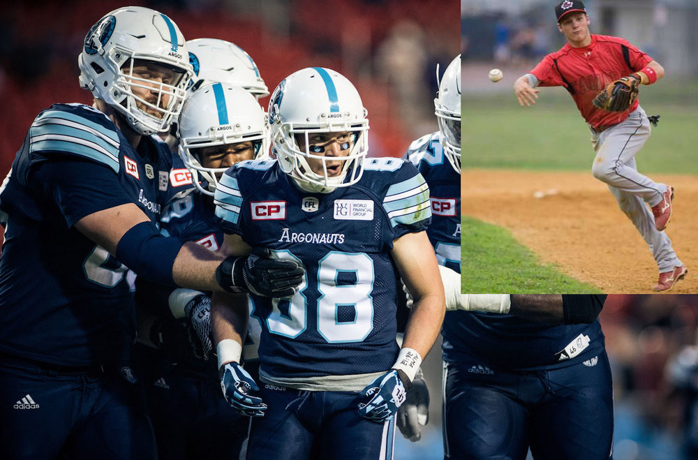 Canadian Junior National Team alumnus Jimmy Ralph (Raymond, Alta.) was a member of the Grey-Cup winning Toronto Argonauts on Sunday. Photo Credit: Baseball Canada