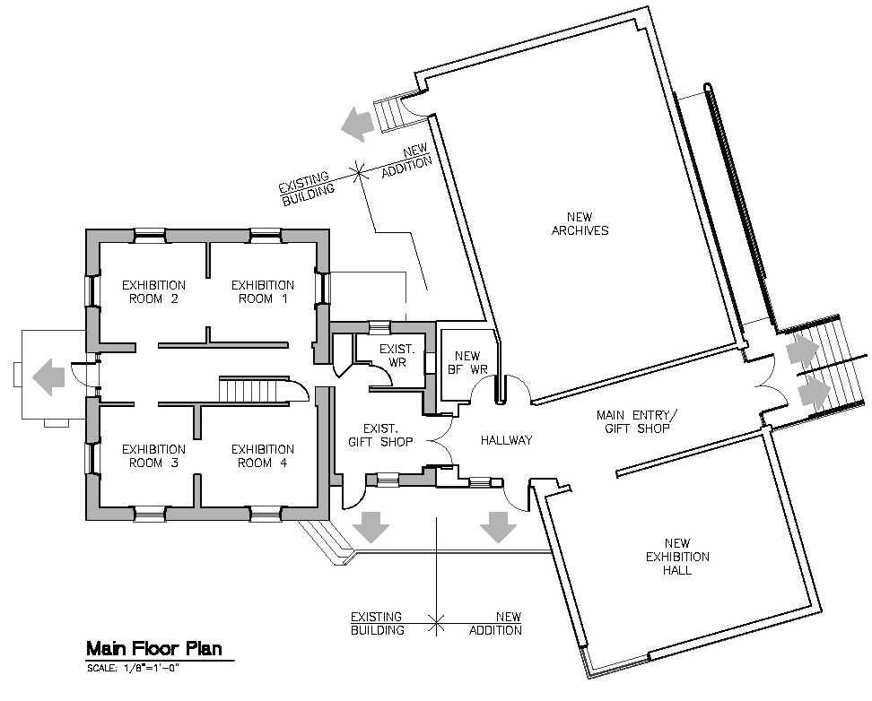 The floor plan for the Canadian Baseball Hall of Fame's renovations that will take place over the next year.