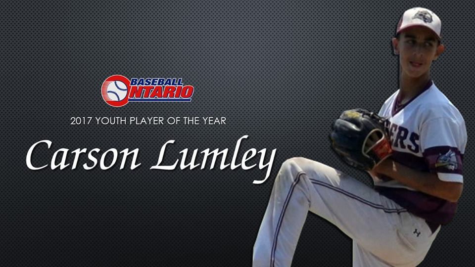 RHP Carson Lumley earned Player Of The Year Pee Wee & Down at the 100th annual OBA banquet.