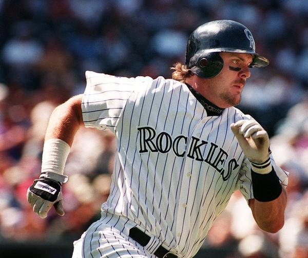 Maple Ridge, B.C., native Larry Walker was not only a three-time batting champion, but he was also a Gold Glove right fielder. Photo Credit: Denver Post