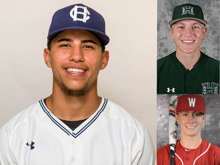 Kekai Rios (left), Carter Loewen (top right) and Jack Smith (bottom right) will join the West Coast League's Victoria HarbourCats in 2018. Photo Credit: Victoria HarbourCats