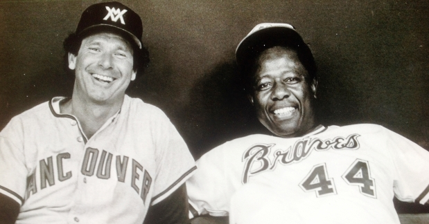 Canadian Baseball Hall of Famer Wayne Norton (left) is pictured here during his playing days with Hank Aaron. Norton passed away on Saturday at the age of 75.