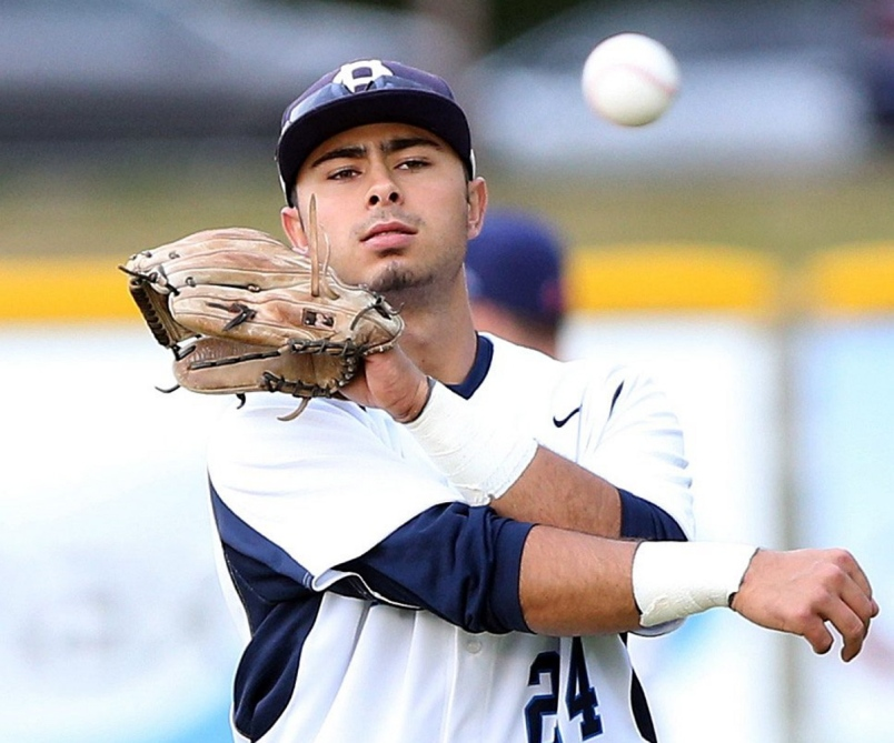 Former Victoria HarbourCats infielder Alex DeGoti helped his old club recruit two Taiwanese players for the 2018 season. Photo Credit: Bruce Stotesbury, Times Colonist