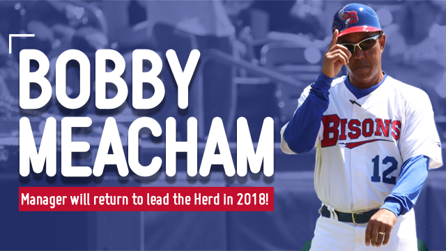 Bobby Meacham will return to manage the triple-A Buffalo Bisons in 2018. Photo Credit: Buffalo Bisons