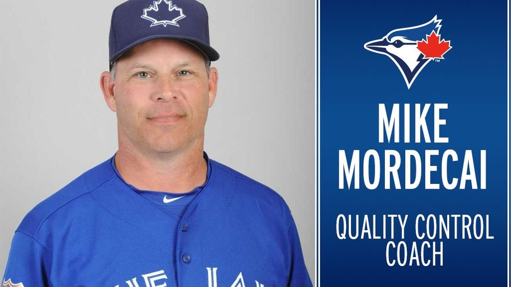 Mike Mordecai has been named the Toronto Blue Jays quality control coach for 2018. Photo Credit: Toronto Blue Jays (Twitter)