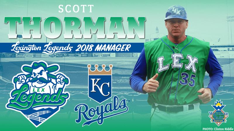 Cambridge, Ont., native Scott Thorman will return to manage the Kansas City Royals' class-A Lexington Legends for a second season. Photo Credit: Lexington Legends