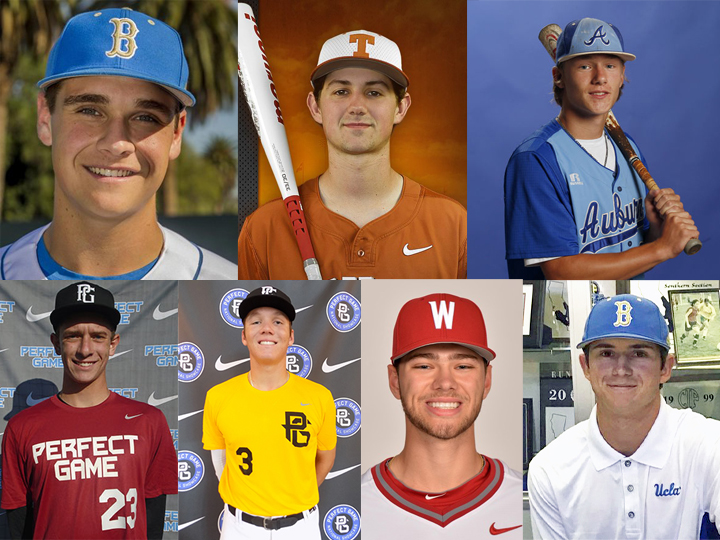The West Coast League's Victoria HarbourCats added seven new players to their 2018 roster today, including, clockwise from top left: Ty Haselman, Tanner Haney, Rowdey Jordan, Cole Roederer, Connor Nantkes, Cade Brown, and Nathan Walker.
