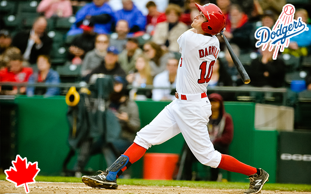 The Winnipeg Goldeyes have sold the contract of All-Star third baseman and Langley, B.C., native Wes Darvill to the Los Angeles Dodgers. Photo Credit: Winnipeg Goldeyes