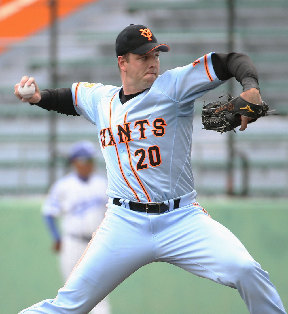 Vancouver native Scott Mathieson has excelled as a reliever with the Yomiuri Giants of Nippon Professional Baseball for the past six seasons. Photo Credit: Japan Times