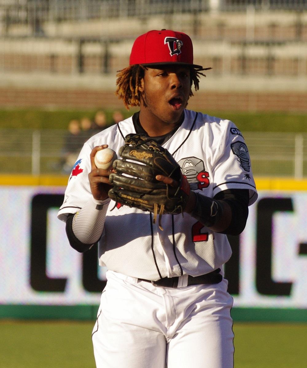Toronto Blue Jays' third base prospect Vladimir Guerrero Jr. is the third-best prospect on Baseball America's Top 100. Photo Credit: Jay Blue