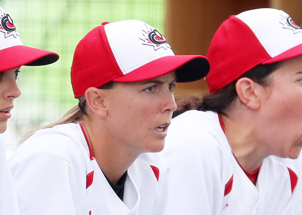 Veteran Canadian Women's National Team member Ashley Stephenson has been named a finalist for SABR's inaugural Dorothy Seymour Mills Lifetime Achievement Award. Photo Credit: Baseball Canada