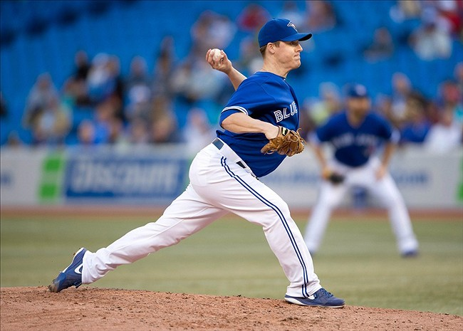 Aaron Loup was one of the Toronto Blue Jays' go-to left-handed relievers in 2017. Photo Credit: Nick Turchiaro/USA Today Sports