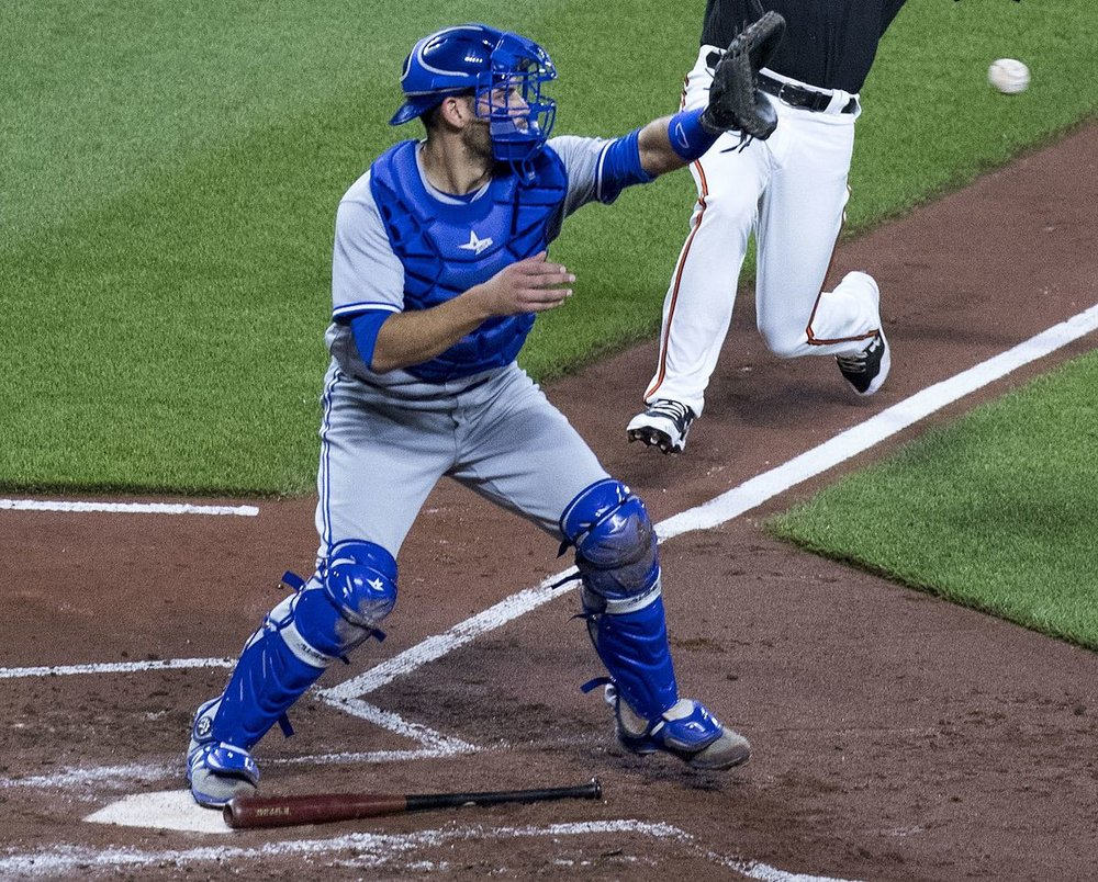 Luke Maile served as the back-up catcher for the Toronto Blue Jays for a good portion of the 2017 season. Photo Credit: Wikipedia