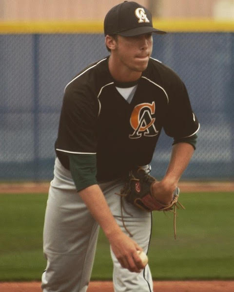 Former Field House Pirate and Langley Blaze RHP Nick Trogrlic-Iverson (Oakville, Ont.) of the Central Arizona Vaqueros