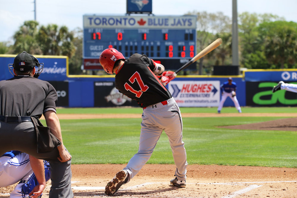The Canadian Junior National Team will play the Toronto Blue Jays in Dunedin, Fla. on March 17. Photo Credit: Amanda Fewer