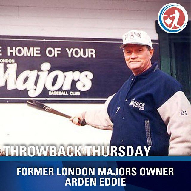 Long-time London Major Arden Eddie, whose career started in 1967 and ended in 2001. Eddie was a seven-time all-star and ranks No. 1 in games played (846) over his 34-year career. He sits third in hits (769) and stolen bases (179) and fifth in RBIs (670).