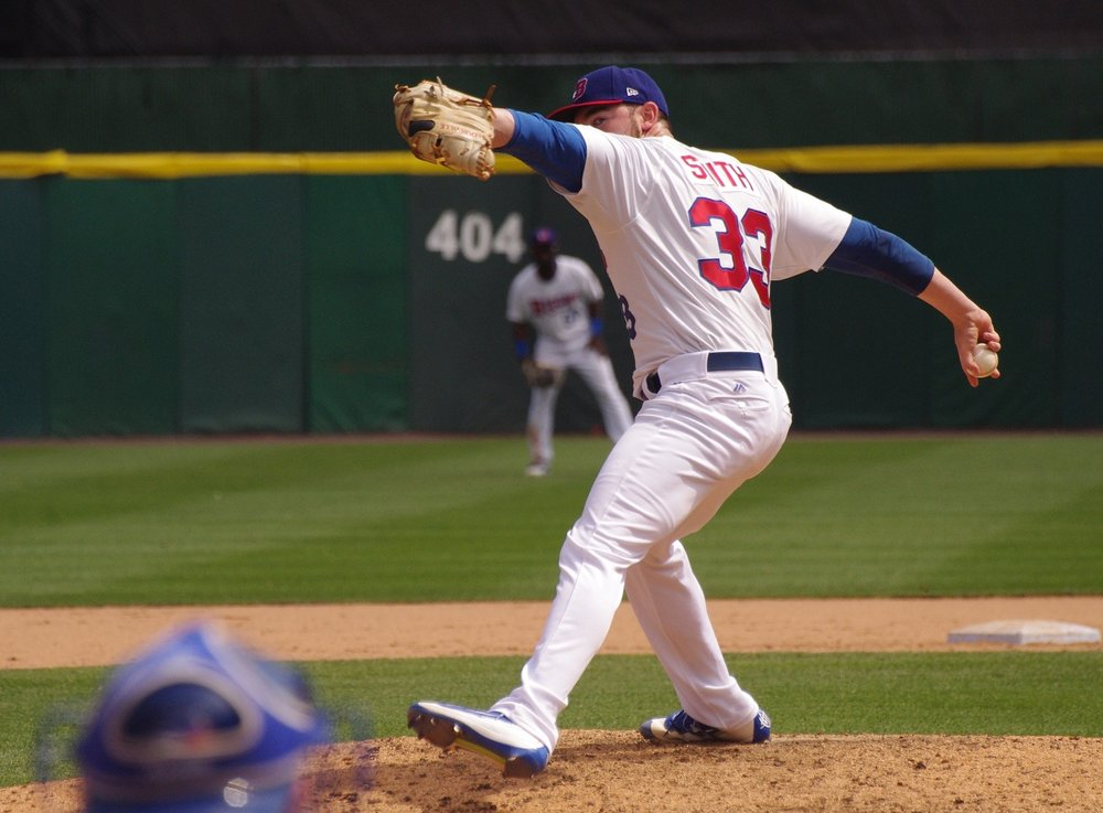 Right-hander Chris Smith made his major league debut with the Toronto Blue Jays in 2017. Photo Credit: Jay Blue