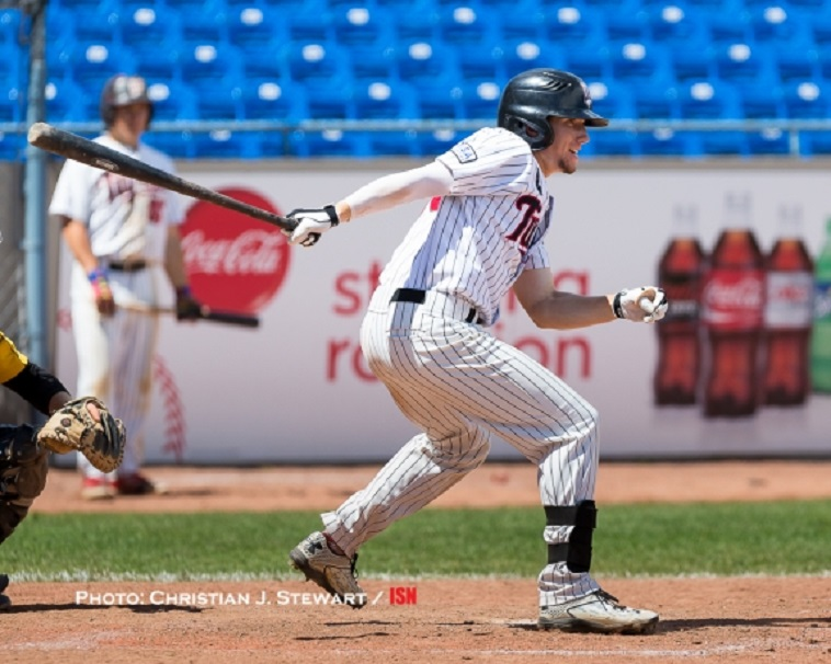 North Shore Twins' Trevor Fonseca (West Vancouver, BC) went 8-for-19 hitting for Cypress Phhoto: Chriistian J. Stewart.