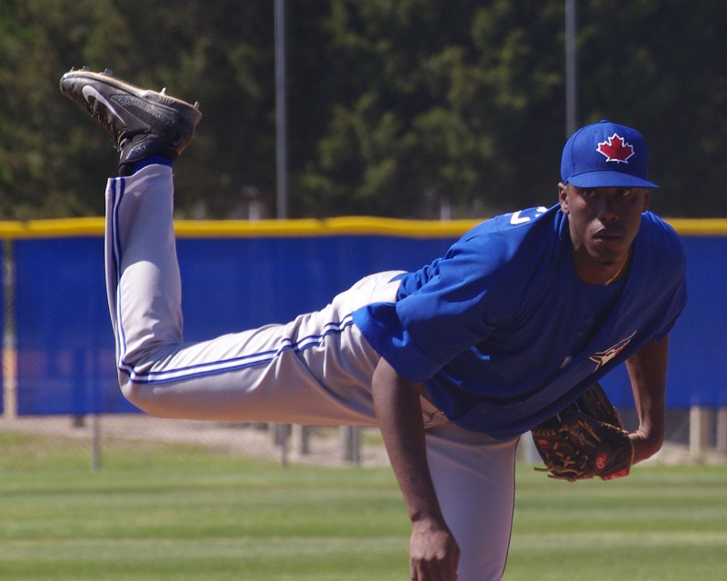 Right-hander Carlos Ramirez had a breakout season in the Toronto Blue Jays organization in 2017, going the entire minor league season without allowing an earned run. Photo Credit: Jay Blue