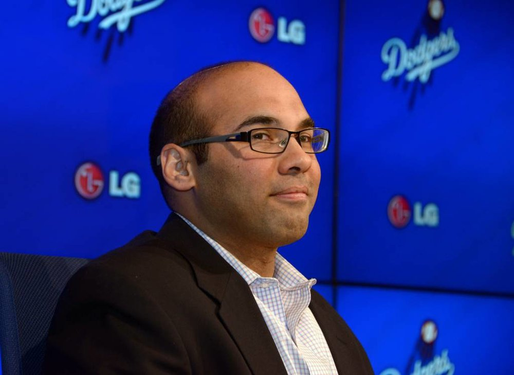 Farhan Zaidi, Dodgers GM. Photo: Kirby Lee, USA Today.