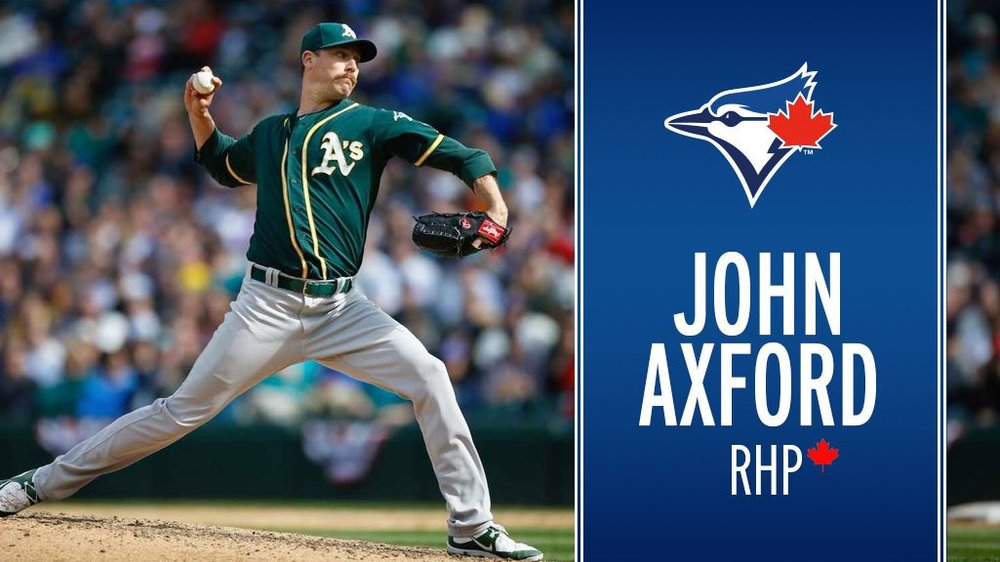Reliever John Axford (Port Dover, Ont.) has signed a minor league deal with the Toronto Blue Jays. Photo Credit: Toronto Blue Jays