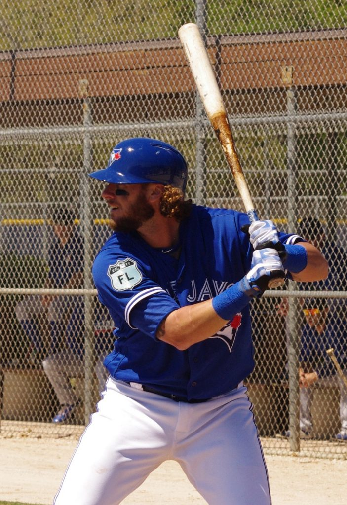 Catcher Jarrod Saltalamacchia had a dismal partial season with the Toronto Blue Jays in 2017. Photo Credit: Jay Blue