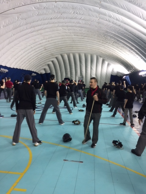 Steven Jaschinski (centre), one of seven Canadian professional umpires, instructs some of the 71 amateur umpires who attended the recent Canadian Baseball Umpire Camp. Photo Credit: Scott Langdon