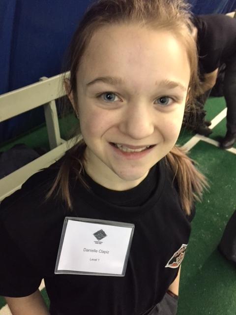 Danielle Clapiz, 14, umpires for East Mountain Baseball in Hamilton. Photo Credit: Scott Langdon