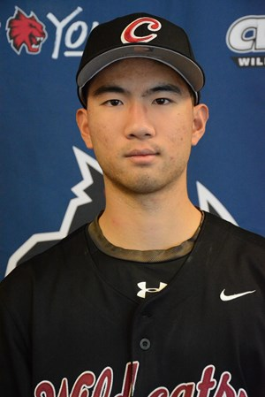 Former Langley Blaze Yi-Fan Pan (Langley, BC) of the Central Washington Wildcats hit .428 (3-for-7).