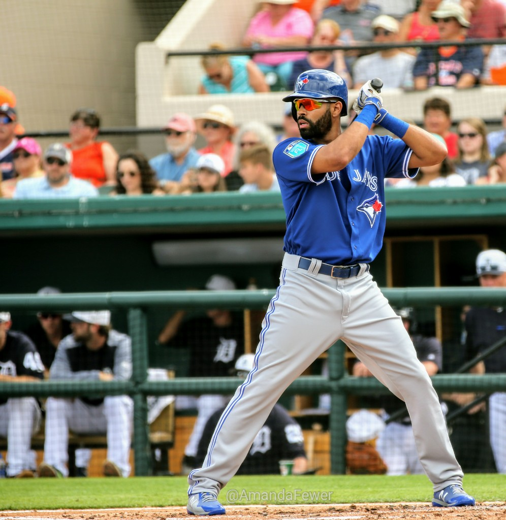 Mississauga, Ont., native Dalton Pompey started in centre field and went 0-for-2 with a walk for the Toronto Blue Jays in their 5-4 loss to the Detroit Tigers at Joker Marchant Stadium in Lakeland, Fla. on Saturday.