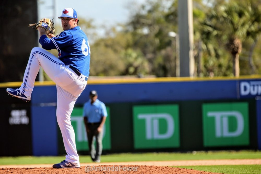 Saint John, N.B., native Andrew Case tossed a shutout eighth inning for the Blue Jays in his 2018 Grapefruit League debut.